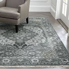 Blue And Grey Area Rug Contemporary Area Rugs For A Cozy Living Room Crate And Barrel