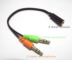 aliexpress buy hot gold plated 5mm 3 5mm tungsten gold plated 3 5 mm headphone mic combine 1 one to 2