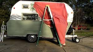 Vintage Trailer Awning My New Awning Youtube