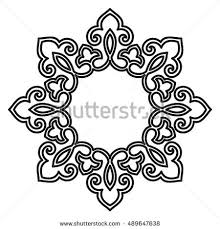 Art Frame Design Decorative Line Art Frame Design Template Stock Vector 425877943