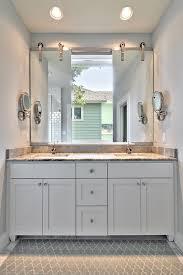 Contemporary Vanity Mirrors Vanity Mirror Ideas Bathroom Contemporary With Marble Master