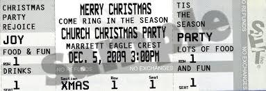 holiday ticket invitations