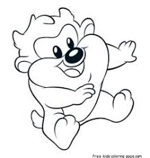 baby looney tunes coloring picture illustration u0026 design