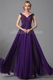 stunning sleeveless purple evening dress prom gown edressit