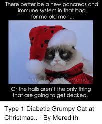 Christmas Grumpy Cat Meme - 25 best memes about type 1 diabetes christmas cats and meme