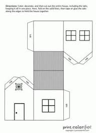 house cutout craft print color fun free printables coloring