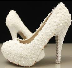 wedding shoes and bags gorgeous white lace handmade diamonds rhinestone wedding party