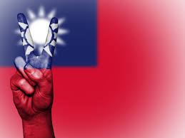 Taiwan Country Flag Free Images Hand Country Travel Finger Red Symbol Banner