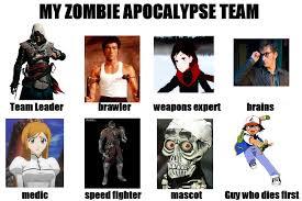 Zombie Team Meme - my zombie apocalypse team by werewolfman21 on deviantart