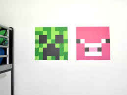 Minecraft Bedroom Decals by Diy Minecraft Wall Art Tutorial Using Wall Decals