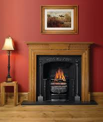 astounding wooden fireplace mantels and classic black gas