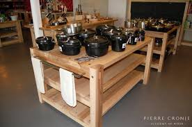 Solid Wood Kitchen Island A Pierre Cronje Kitchen Island At The Leopards Leap Deli In