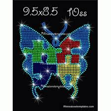 butterfly puzzle rhinestone eps svg