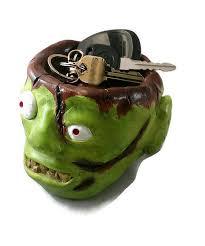 key bowl zombie candy dish halloween candy dish halloween