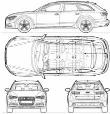 dimension audi a6 the blueprints com blueprints cars audi audi a6 allroad