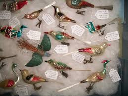 German Blown Glass Christmas Ornaments Old German Unusual Bird Ornaments Tub 6 Holiday Memories