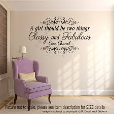 coco chanel u0027s inspiring quote vinyl wall sticker home decor