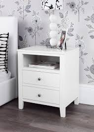 bedroom furniture bedside cabinets brooklyn white bedside table bedroom furniture direct