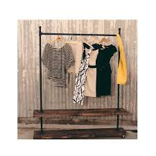 trd double shelf industrial clothing rack rolling clothes