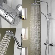 aqualisa thermostatic rigid riser u0026 handset shower system 233 29