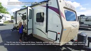 rockwood trailers floor plans forest river rockwood ultra lite 2702ws youtube