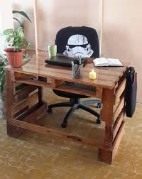Diy Pallet Wood Distressed Table Computer Desk 101 Pallets by Pallet Desk Escritorio De Pallets Made By Me Proyectos Que