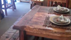reclaimed wood table rustic aspen dining table barnwood dining