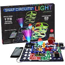 snap circuits lights electronics discovery kit snap circuits lights cogs the brain shop