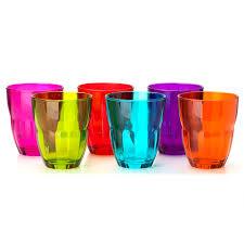 bicchieri colorati bormioli bormioli set 6 bicchieri ercole tavola acqua vino multicolor