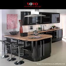 High Gloss Black Kitchen Cabinets High Gloss Black And Latte Lacquer Kitchen Cabinets On Aliexpress