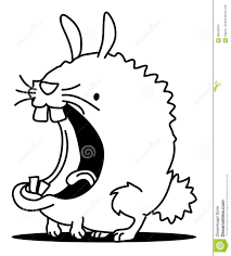 mouth bunny line drawing stock vector image 86433054