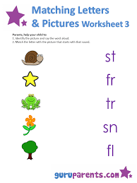 matching letters worksheets guruparents