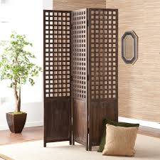 wood room dividers shabby chic brown wooden three fold room divider and green also