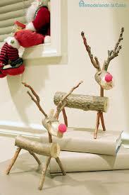 log reindeer remodelando la casa basement decorated for christmas