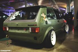 vw rabbit steelies stance automotive pinterest mk1 cars