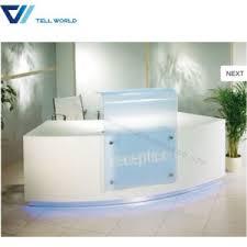 Office Counter Desk China Modern Design Service Checkout Counter White Salon Reception