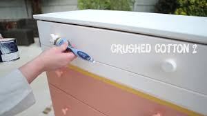 How To Paint A Table by How To Paint A Two Tone Chest Of Draws Dulux Youtube