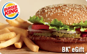 fast food gift cards burger king gift card