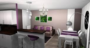 cuisine pourpre exciting salle a manger gris et prune d coration id es murales