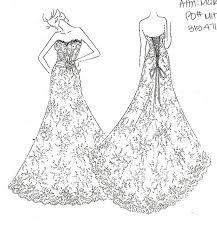 my dress sketch is here weddingbee