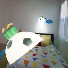 applique chambre d enfant football applique murale de lecture ø150mm enfant bleu le bras