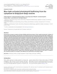blue light activated phototropin2 trafficking from the cytoplasm