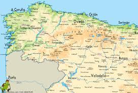 Map Spain Camino De Santiago