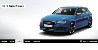 audi configurater 2015 audi rs3 sportback configurator launched gtspirit