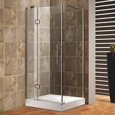 Shower Tray And Door by Bathroom Square Corner Shower Enclosure With Steel Door Handle