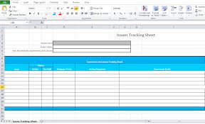 Issue Tracking Excel Template Issue Tracking Template Excel Microsoft Excel Tmp
