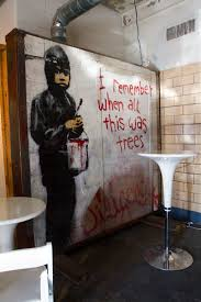 Wall Murals For Sale by Banksy Mural For Sale Detroit Gallery Offers Up Rare Find