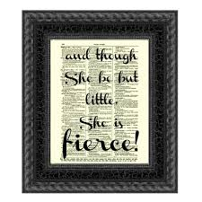 wedding quotes shakespeare and though she be but she is fierce shakespeare quote