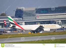 Warsaw Airport Map Emirates Plane On The Warsaw Chopin Airport Editorial Image