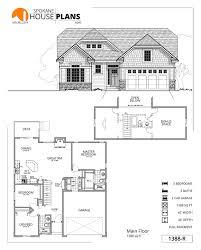2 Car Garage Sq Ft 1388 Rc Spokane House Plans